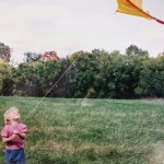 Childhood kite flight.